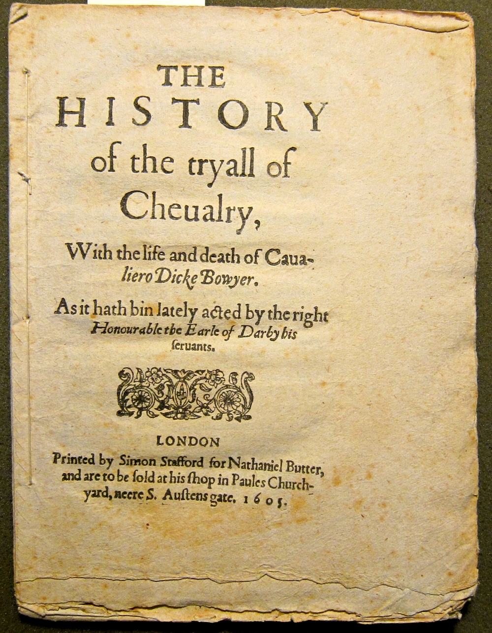 The Trial of Chivalry (1605), STC 24935a, Folger Shakespeare Library