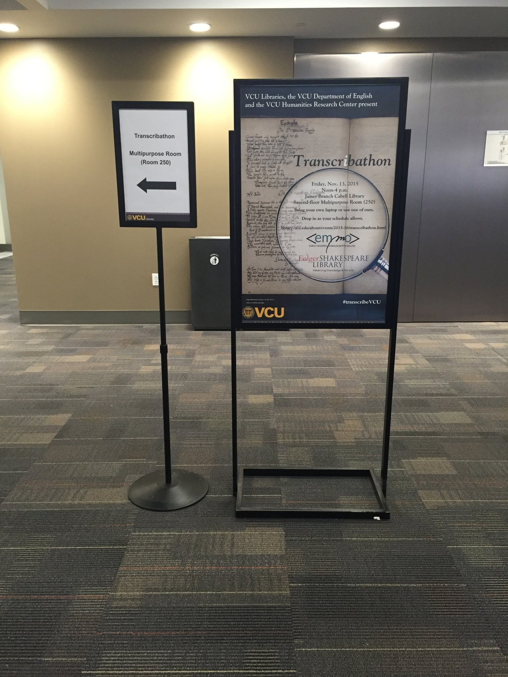 Thanks to VCU Libraries for creating such beautiful posters for the transcribathon.