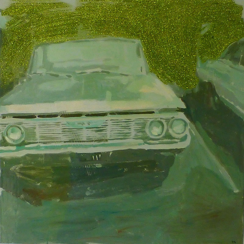 ford grill with glitter_oil on panel_18x18.jpg