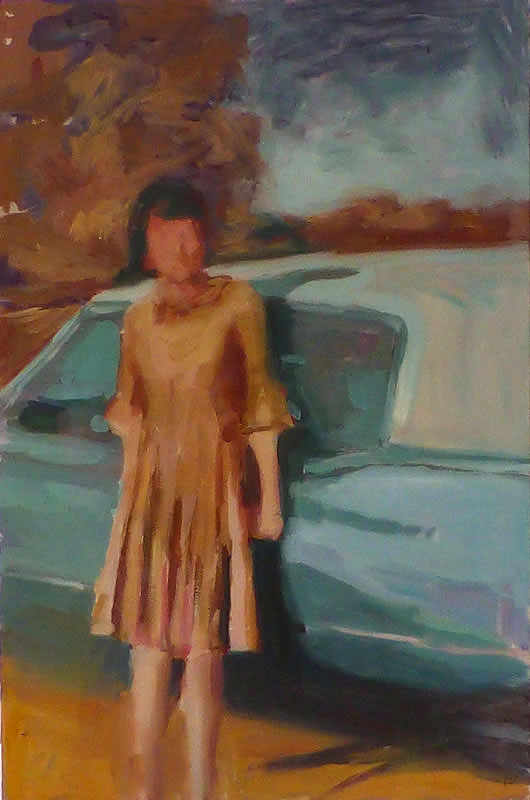 lady and Cadi_oil on panel_12x18.jpg