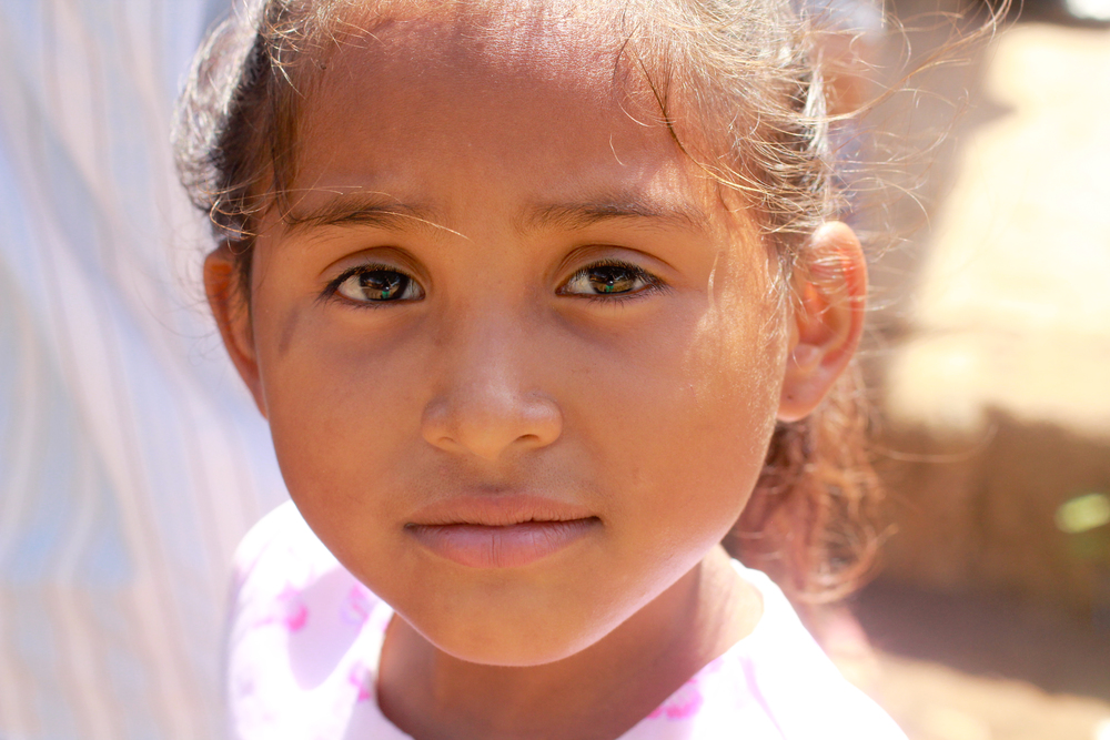 Child at Church in Nicaragua January 2013