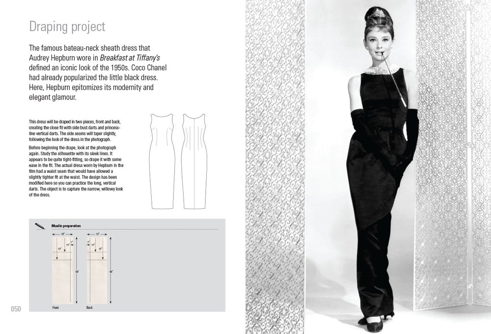 Draping-Audrey Hepburn's Bateau neck sheath dress Repro-Blad-3.jpg