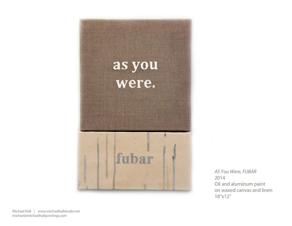 as you were fubar