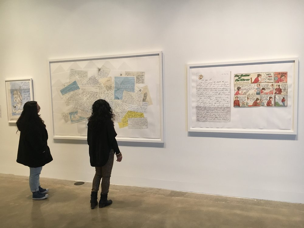 "Installation of Correspondence in ""Not Alone: Exploring Bonds Between and With Members of the Armed Forces"" at SF Arts Commission Gallery."