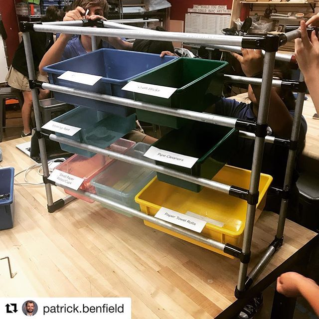#Repost @patrick.benfield ・・・ The 7th grade Math + Making project is nearly done! Applied mathematics, iterative design, fabrication, 3D printing: ✔️