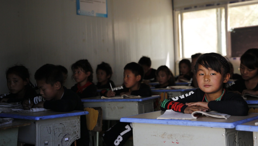 Students at Ninglang Elementary School.