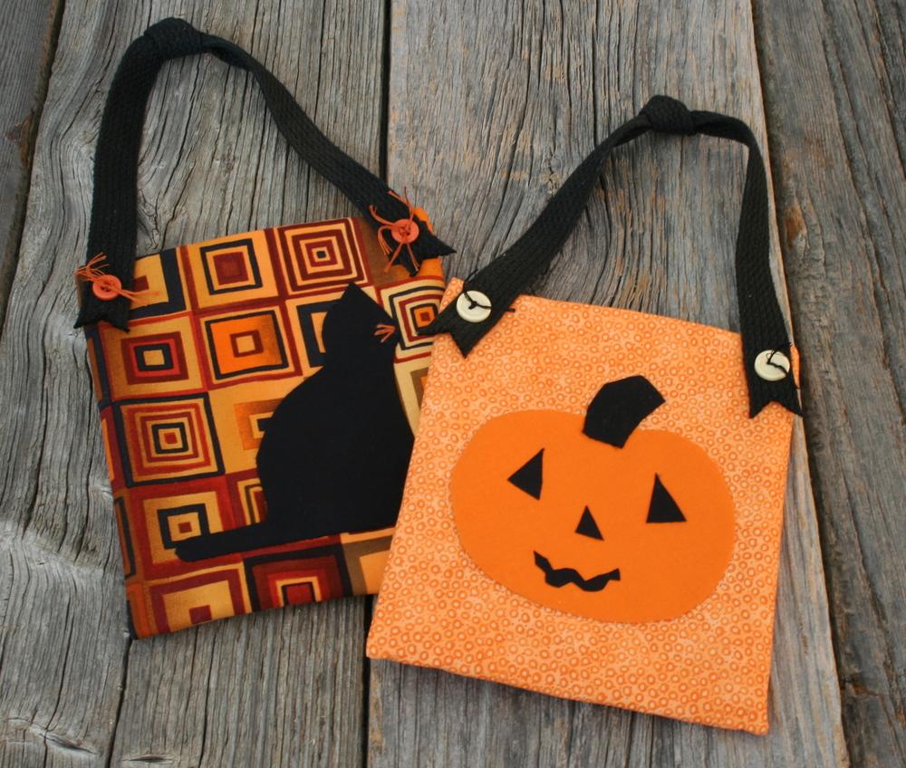 Deco pockets - Halloween cat and jack-o-lantern