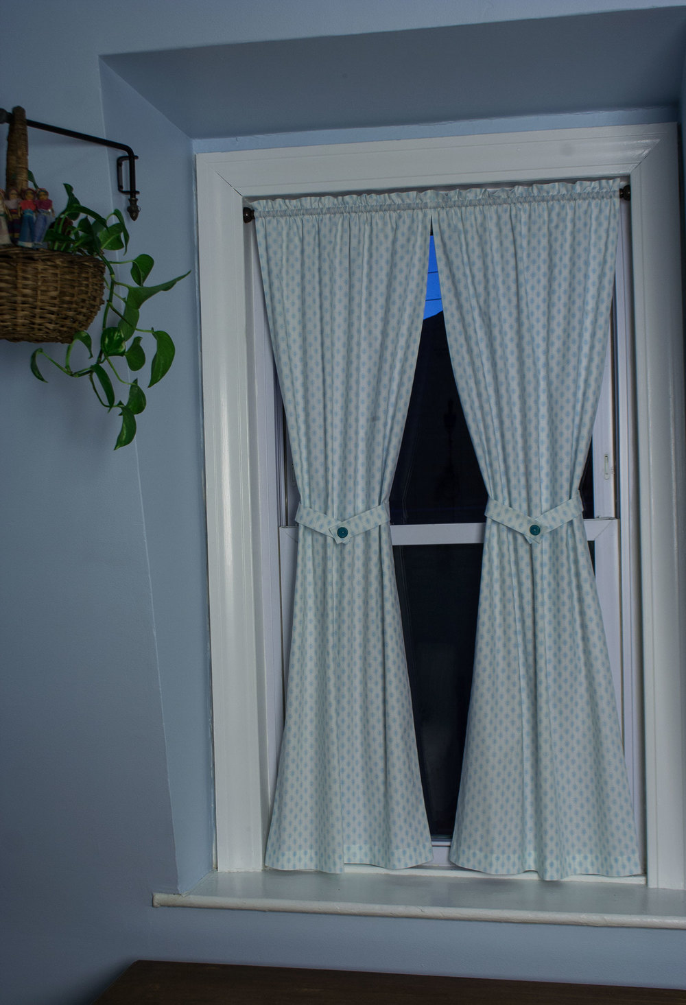 How to make rod pocket curtains - My New Kitchen Curtains