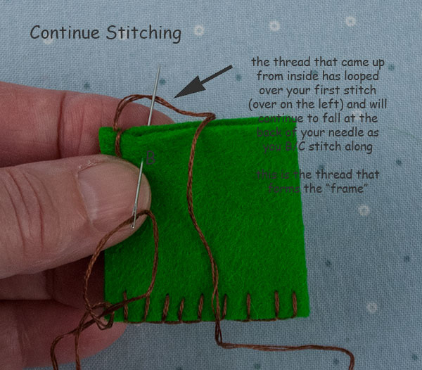 How To Sew Wool Felt Blanket Stitch Beginner Lesson 4