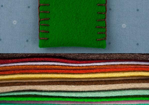 Coarse wool felt