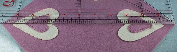 heart candlemat lay ruler