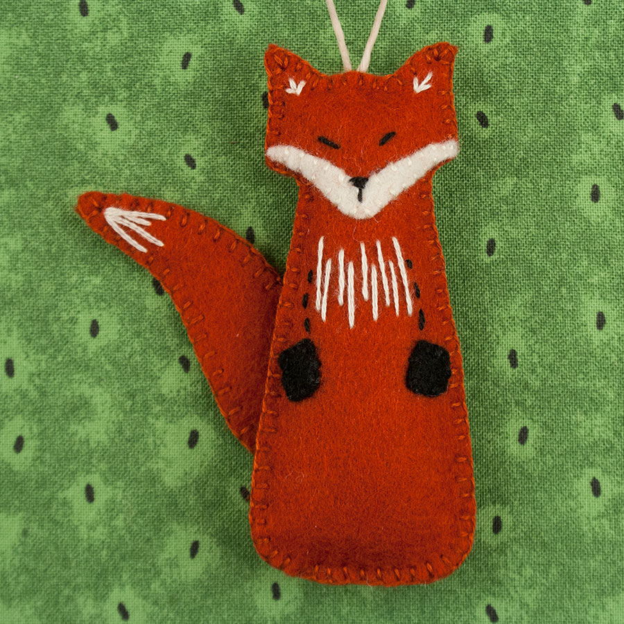 felt fox ornament pattern