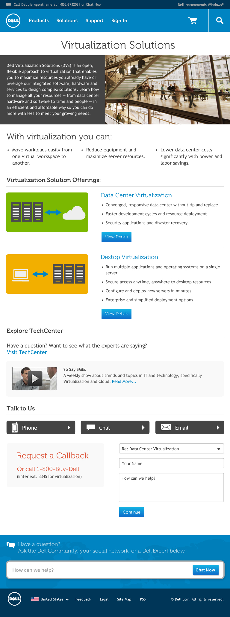 enterprise solutions category page