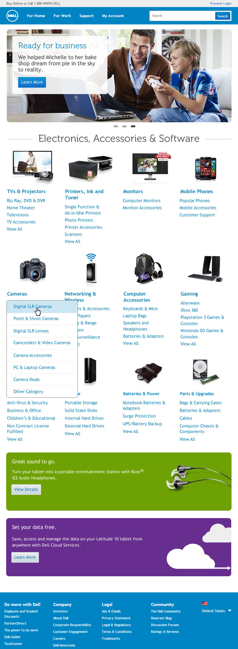 Accessories home page