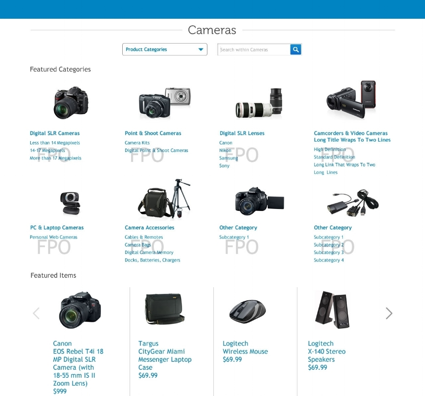 DELL software & Peripherals - Catalog site redesign, mobile navigation and personalized parts search