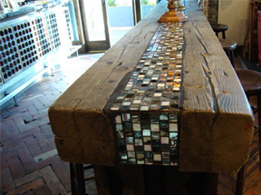 Mosaic Table Accent The  				Collective Restaurant   Meatpacking District NYC