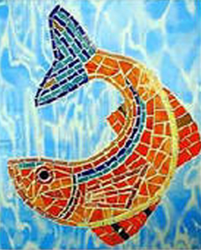 Mosaic Wall Feature King Fish Restaurant Boston MA