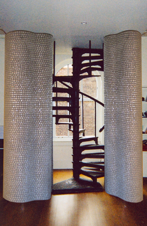 Glass Mosaic Columns  Private Residence NYC