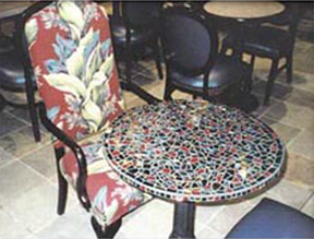 Mosaic  Table Top   Jeresey Gardens Mall Elizabeth, NJ