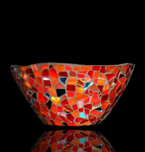 mosaic basket