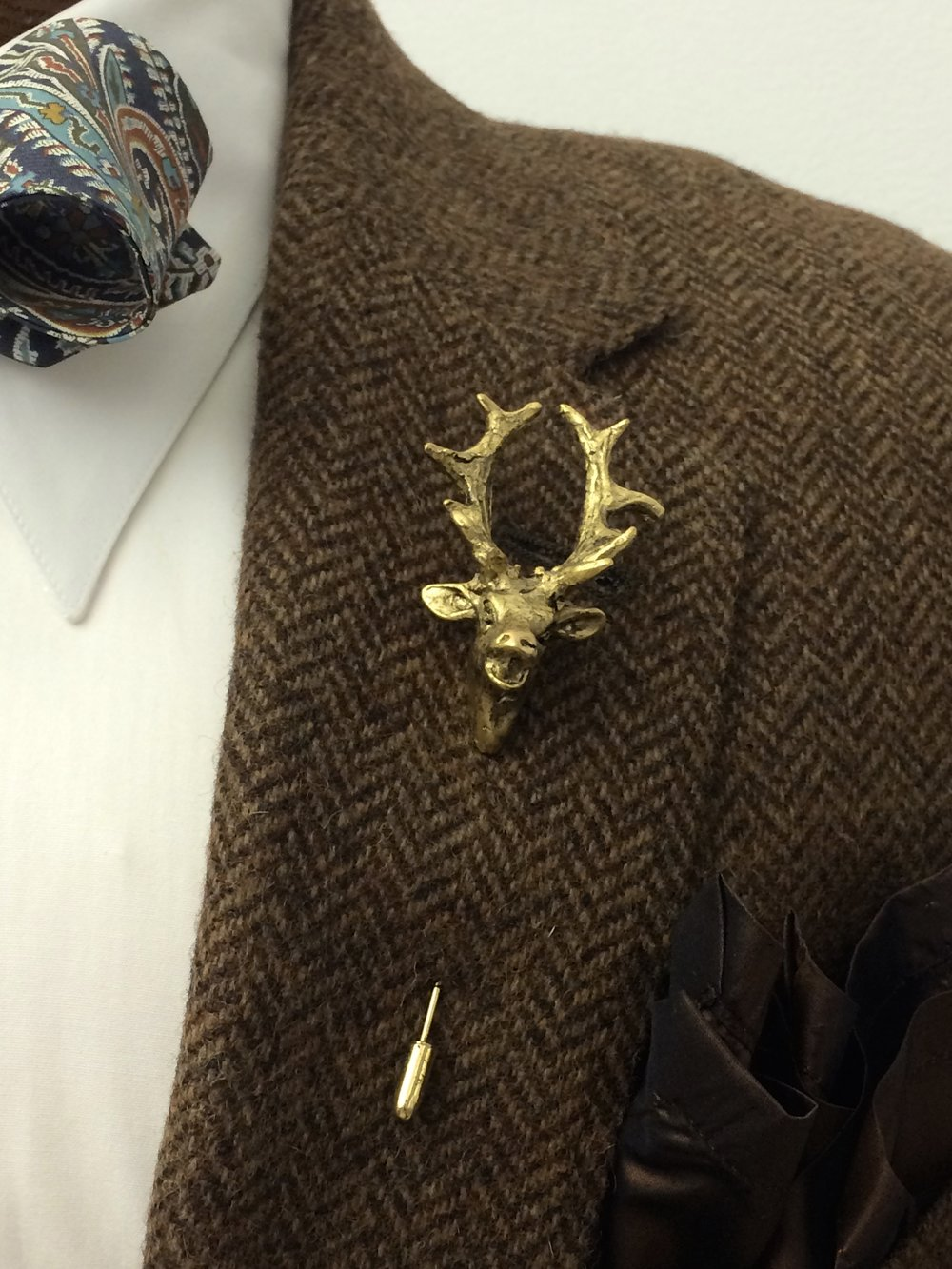 STAG PIN available in Antique Gold and Antique Silver