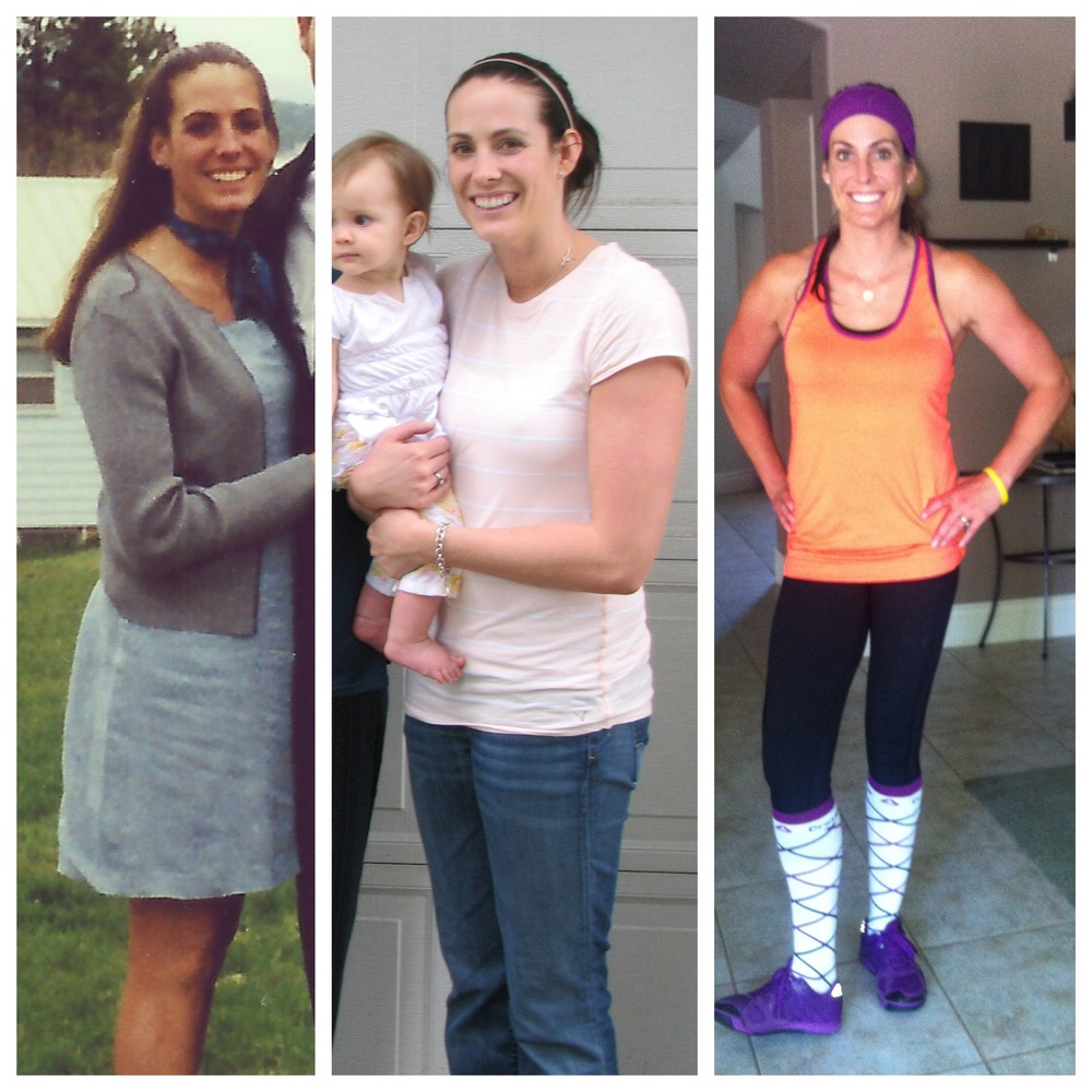 Before married & babies, after 2nd baby, 1 yr into CrossFit