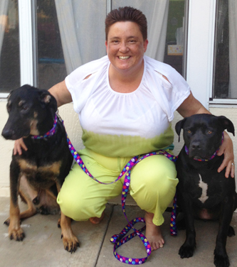 Cynthia Velderrain your friendly pet trainer with Rogan & Maggie