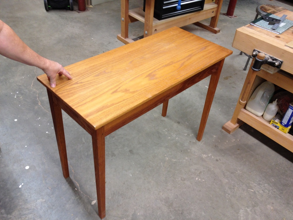 This is the table we modeled our table on.  It belongs to our night instructor, John Ferguson.