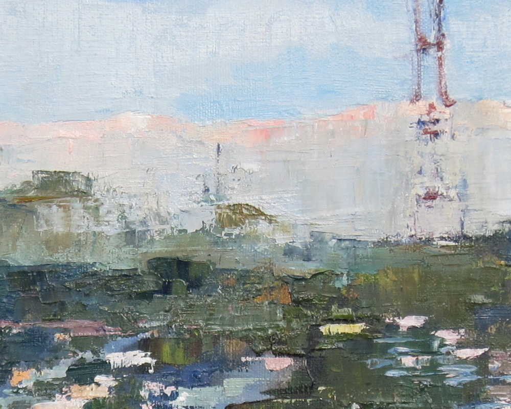 View From Studio (detail)   oil on canvas  2015