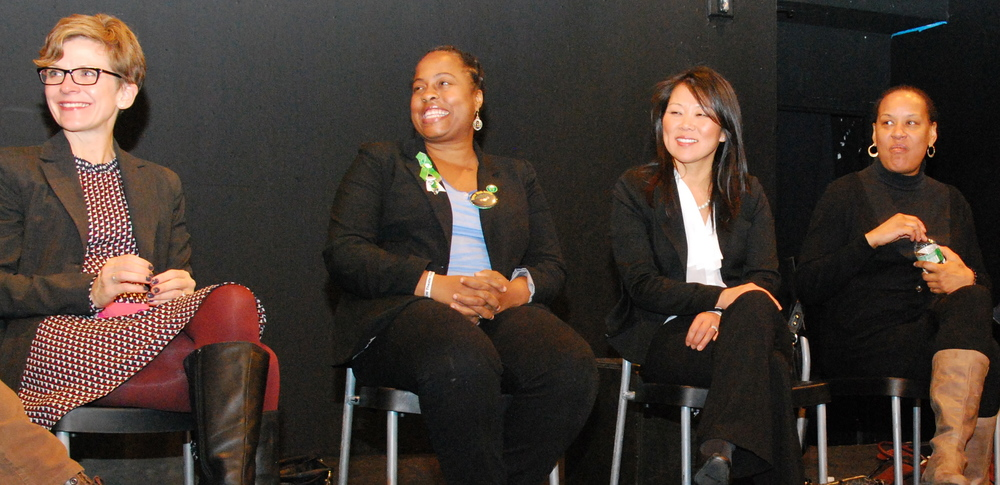 Kim Russell (Moms Demand Action), Marie Delus, Po Murray, and April Tyler