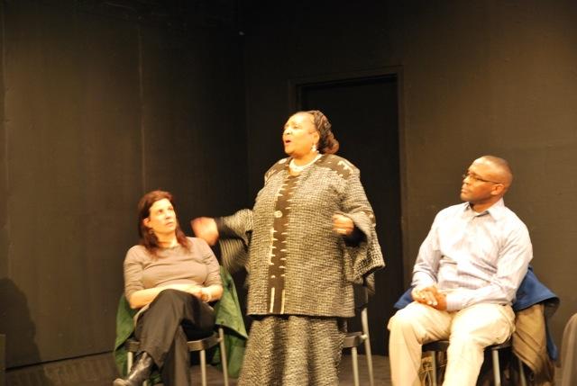 Adina Taubman, Jackie Rowe Adams, and Andrew Woods