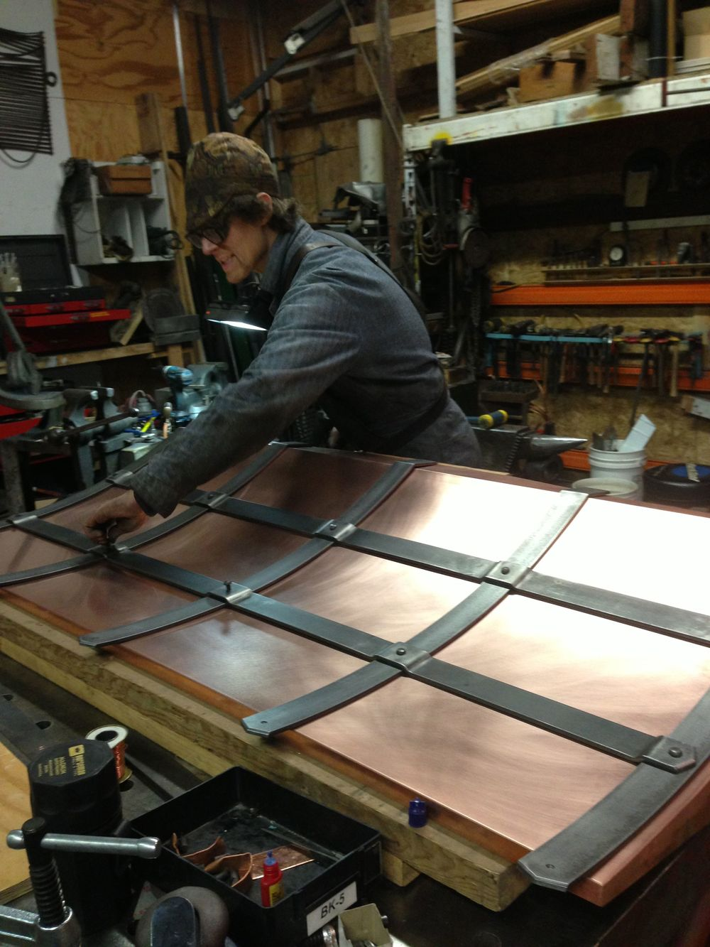 Copper Hood Work