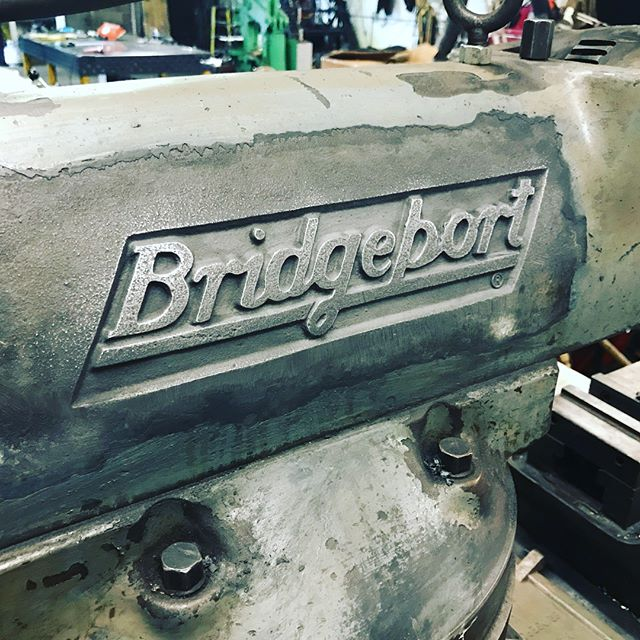 Good old late night wild hair paint stripping work on the Bridgeport this week. I understand paint has a nice uniform finish and seals moisture out and all that but can't we just go with the hand sanded finish on this baby? #ppmetalcraft #bridgeportmill #refurb #stripper #tuneup
