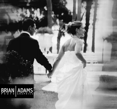 """The One"" image from my very first wedding in 2002, taken with black-and-white FILM (gasp!), by Brian Adams PhotoGraphics, www.brianadamsphoto.com"