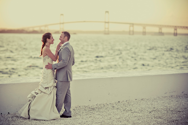 new england wedding photographers wedding photo at belle mer in newport