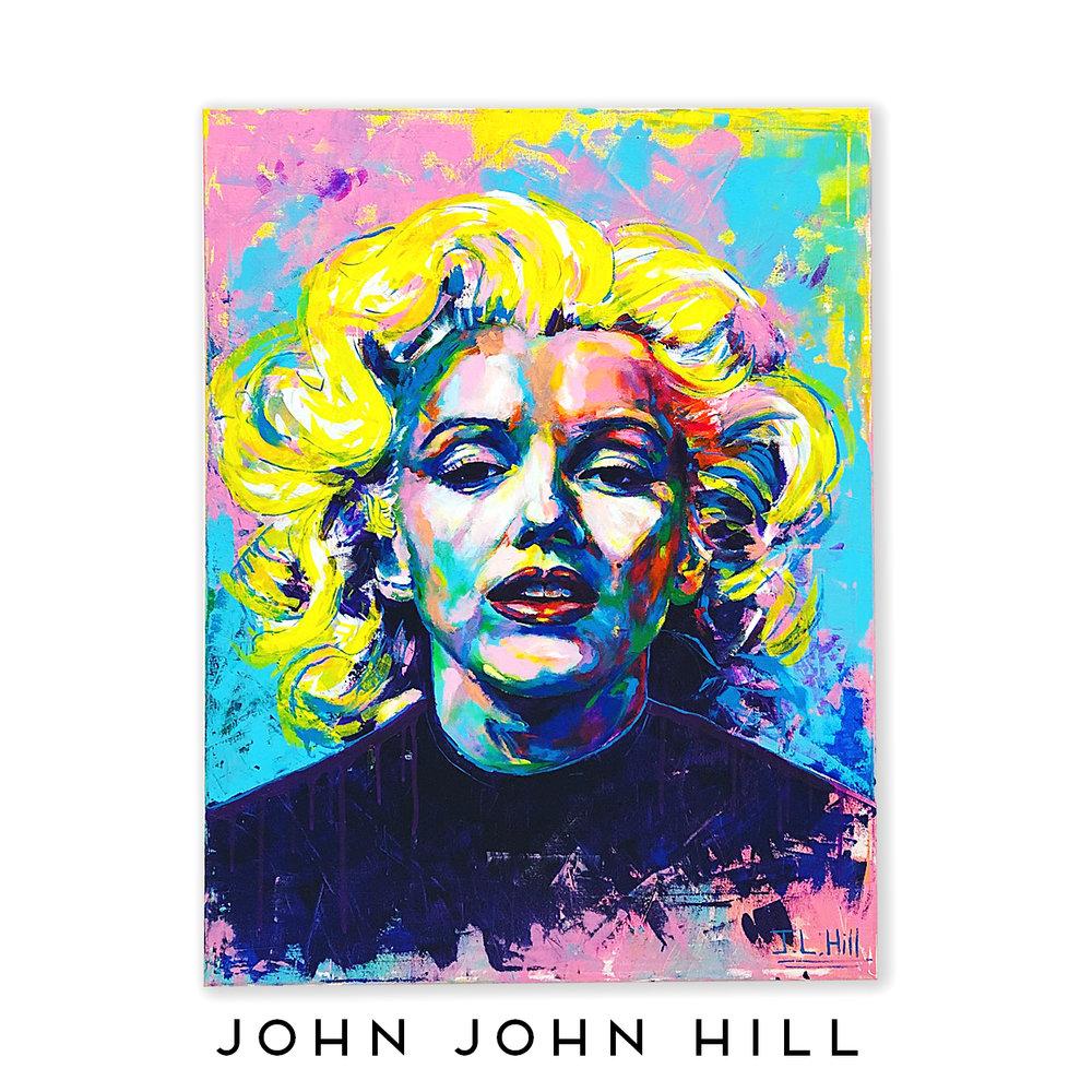 John John Hill, Marilyn,  38x48 Acrylic on Canvas