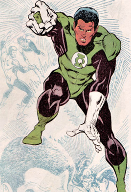 JOHN STEWART The African American one, he was in the Justice League cartoon series.