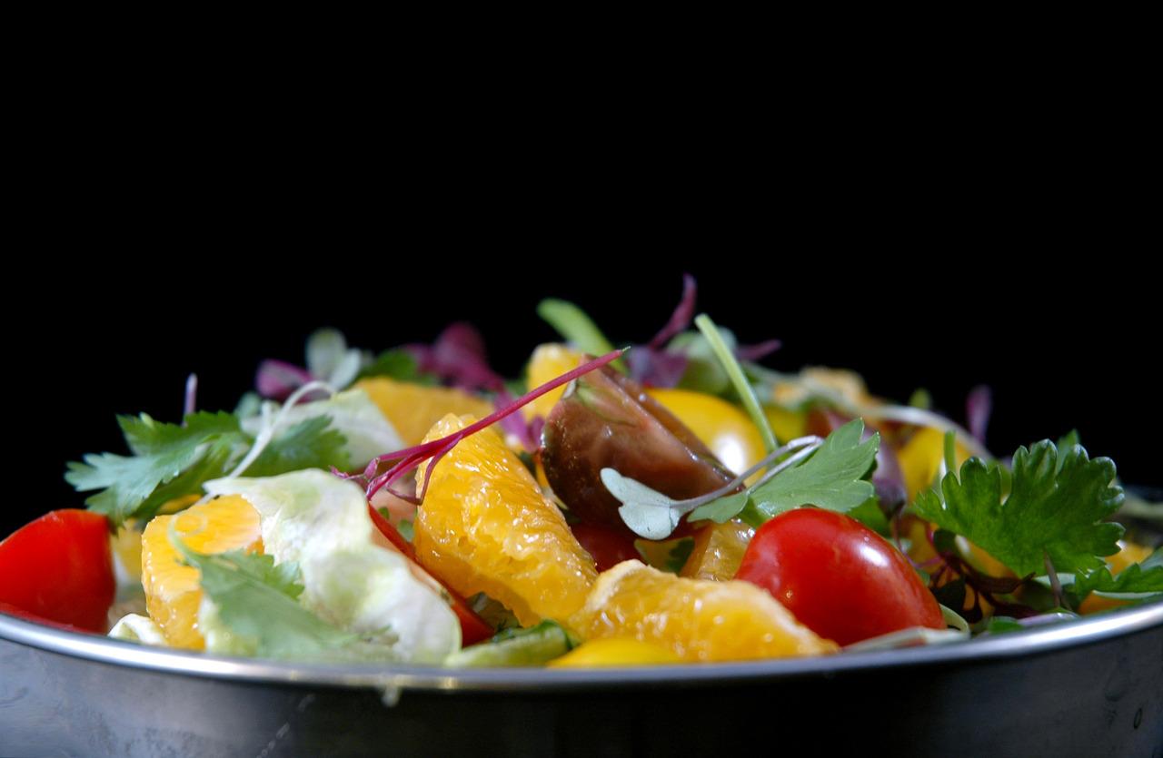 TOMATO & CITRUS SALAD   microgreens - iceberg lettuce - citronette