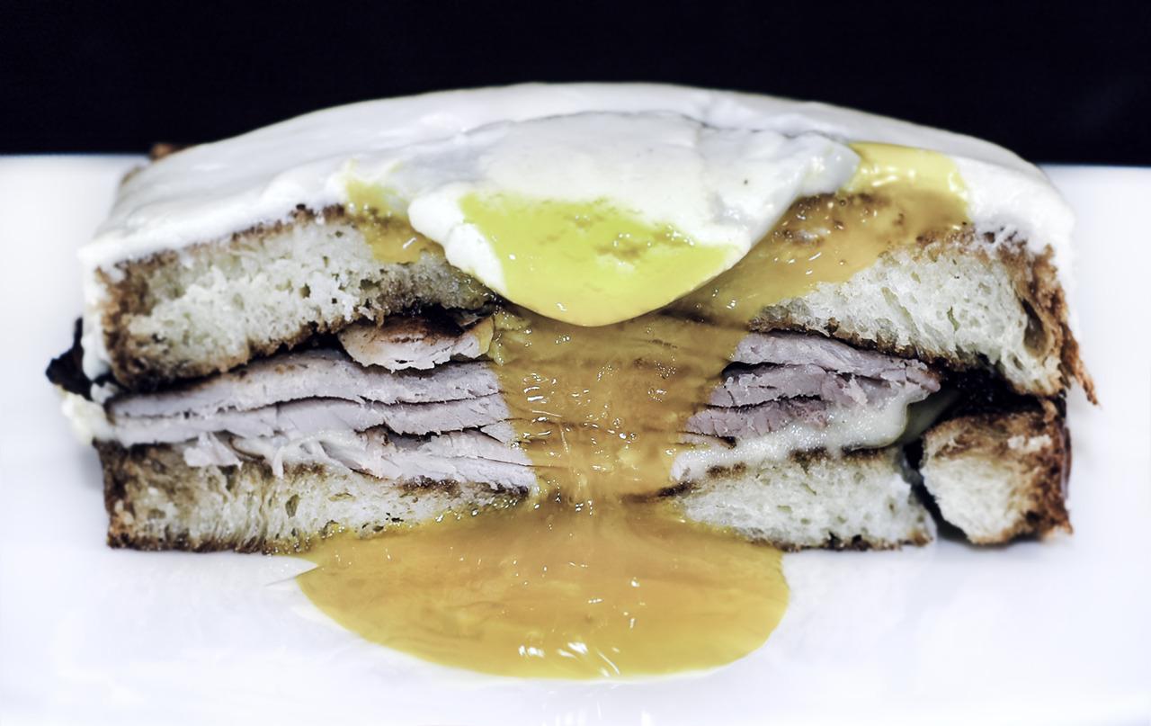 BOUCHON'S CROQUE MADAME   house-cured ham - sous-vide egg - mornay