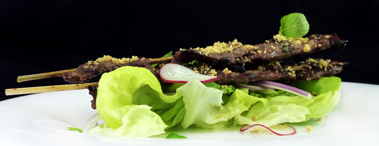 thai beef salad   with chili-lime citronette    Just a basic thai salad….