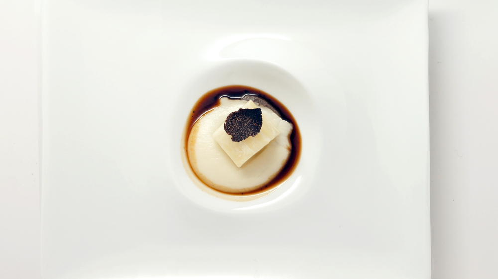 celery root |  celery root puree - black truffle puree - truffle demi