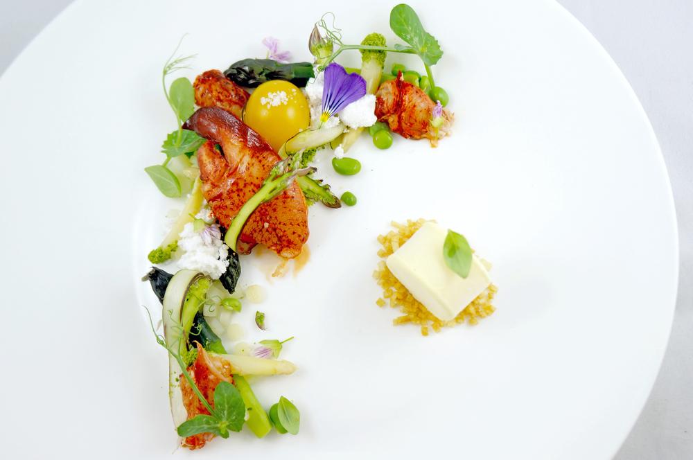 lobster & asparagus     white asparagus & truffle ice cream - spring vegetables & legumes