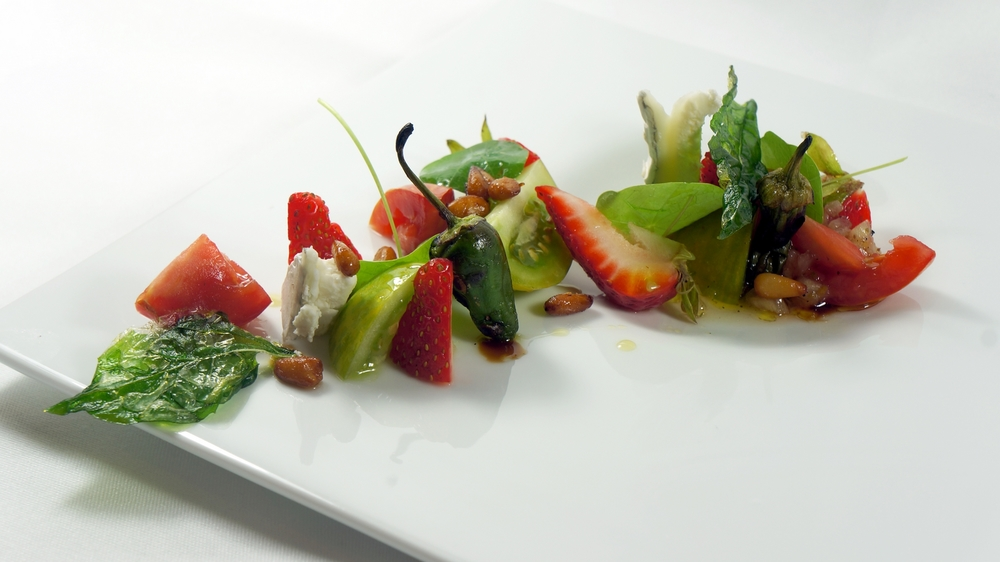 2013 - strawberries, tomatoes, padron, humboldt fog, candied pine nuts.jpg