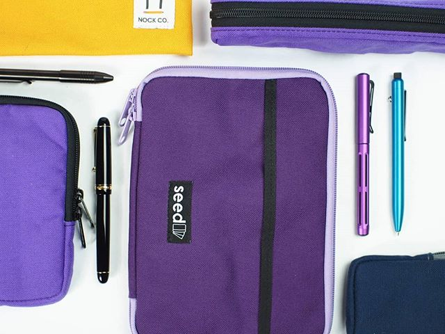 No blue Monday's but maybe purple Tuesday? #nockshots #nockco #penandpaper #pencase
