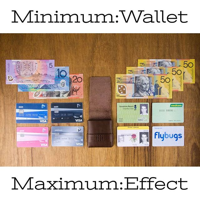 Using a #minimalistwallet shouldn't mean you have sacrifice the essentials. 8-10 bank cards and a stash of bills #minimumwallet  Shop link in bio  #minimumwallet #officeofminordetails # leather #miniwallet #menswallet #leatherwallet #minimal #minimalism  #leathercraft #handmade #giftforhim #byronbay