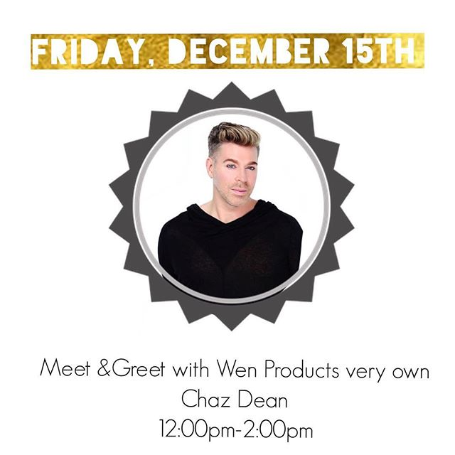 Join us tomorrow from 12:00pm-2:00pm as @chazdean presents some of his favorite products and does meet and greet at our pop up shop. Located in soho at 446 Broadway New York 10013 .. see you then Xx