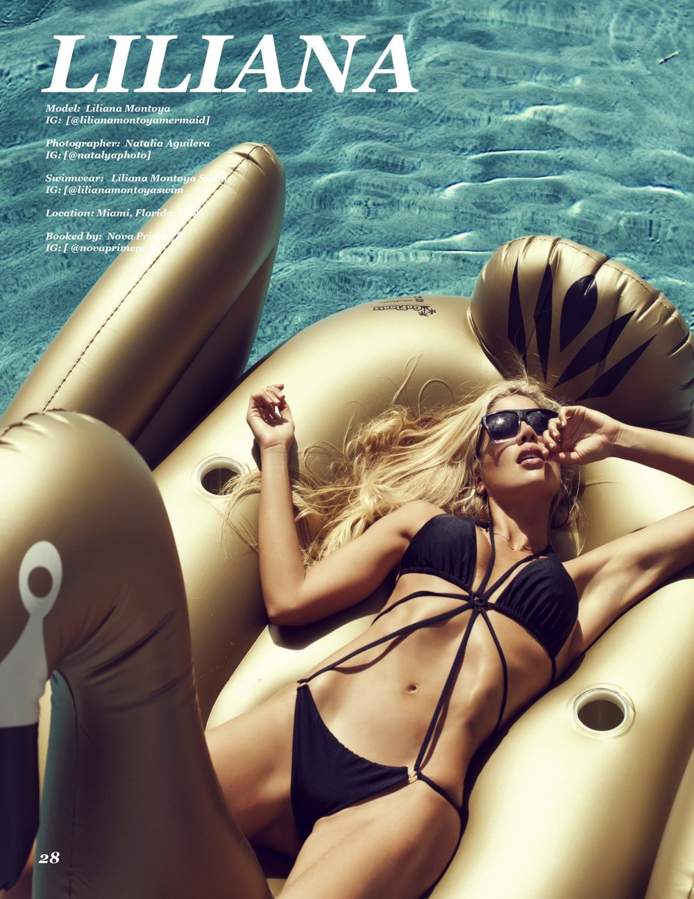 Summers Magazine Liliana Montoya Swim