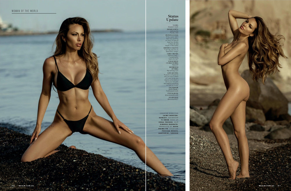 Maxim Australia 2017 August - Featuring Elizabeth Smith - Booked by Nova Prime PR