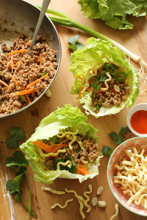 Asian Pork Lettuce Wraps