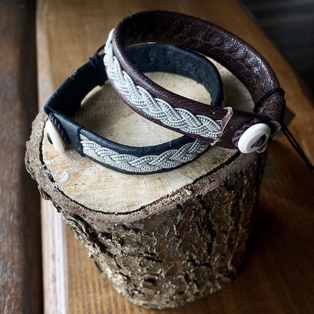 Beautiful Swedish Pewter leather bracelets with shed reindeer antler buttons. Available in our Hill Street and Holywood boutiques. . . #twistedpewter #leatherbracelet #braceletlove #yogainspired #yogaboutique